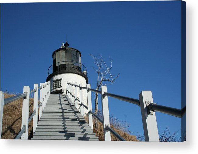 Landscape Acrylic Print featuring the photograph Owls Head Lighthouse Winter by Doug Mills