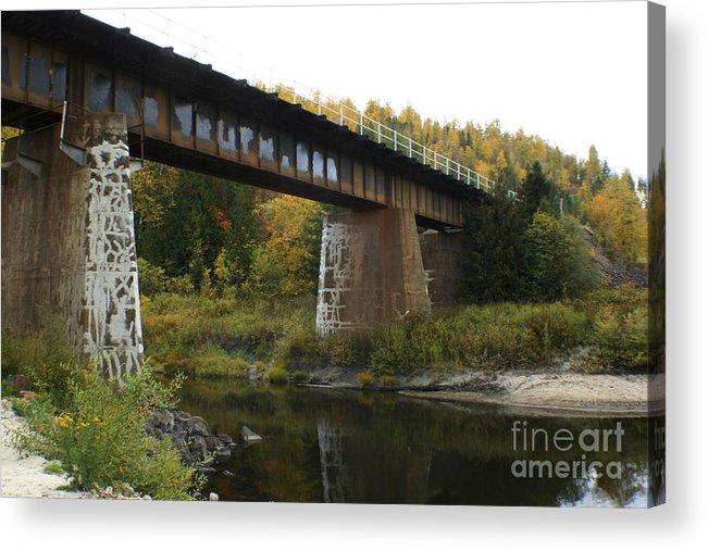 Bridge Acrylic Print featuring the photograph Pack River Bridge by Idaho Scenic Images Linda Lantzy