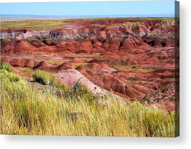 Photography Acrylic Print featuring the photograph Painted Desert 0242 by Sharon Broucek