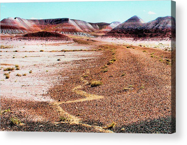 Photography Acrylic Print featuring the photograph Painted Desert 0319 by Sharon Broucek