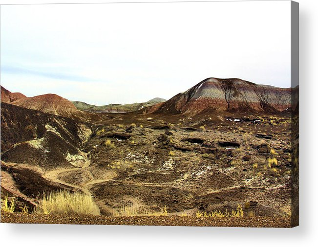 Photography Acrylic Print featuring the photograph Painted Desert Winter 0583 by Sharon Broucek