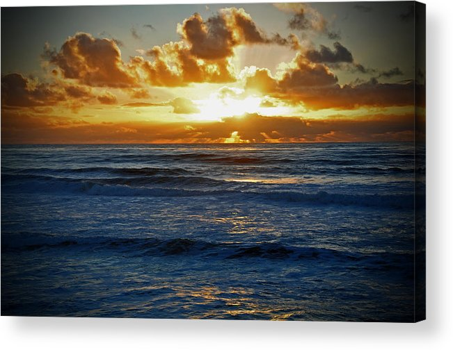 Painted Ocean Acrylic Print featuring the photograph Painted Ocean by Kelly Wade
