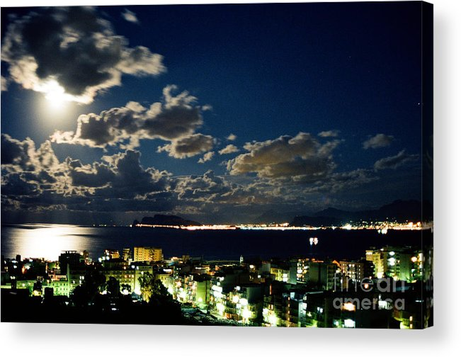Palermo Acrylic Print featuring the glass art Palermo by Carlo Greco