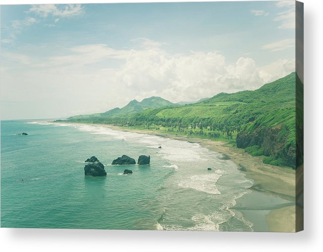 Paradise Acrylic Print featuring the photograph Paradise Bay by Tina Ernspiker