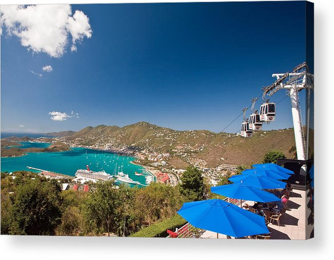 Aerial Tramway Acrylic Print featuring the photograph Paradise Point View Of Charlotte Amalie Saint Thomas Us Virgin Islands by George Oze