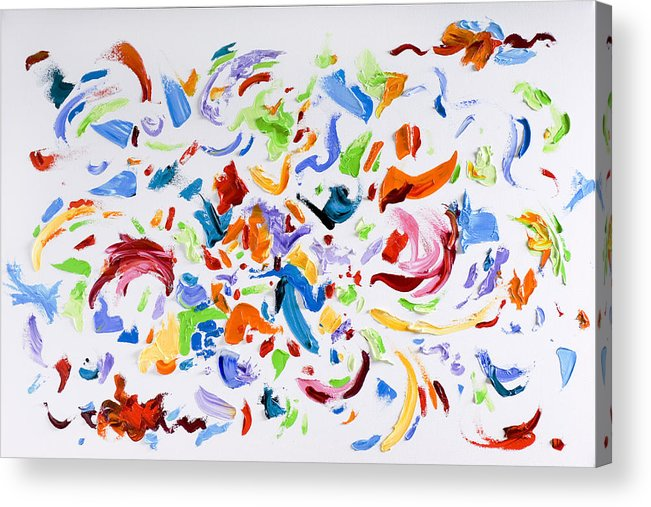 Red Acrylic Print featuring the painting Party by Shannon Grissom