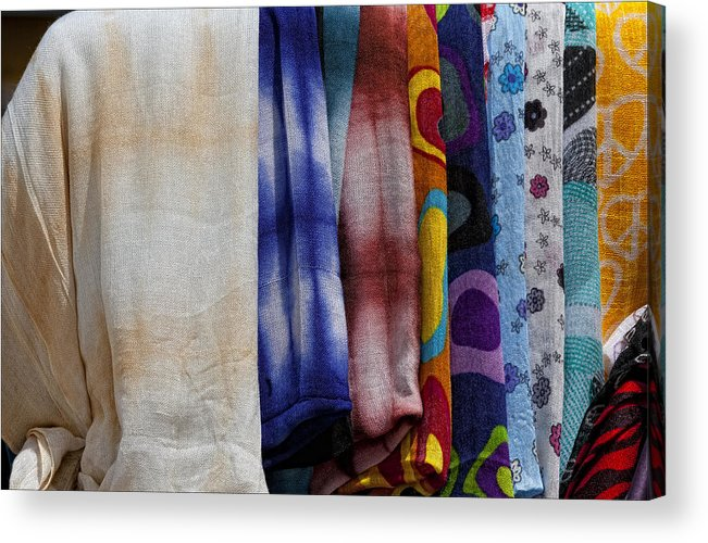 Fabric Acrylic Print featuring the photograph Pashmina by Robert Ullmann