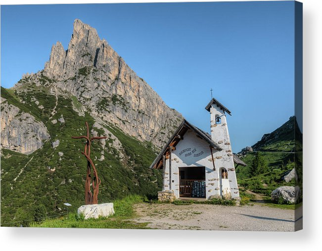 Hexenstein Acrylic Print featuring the photograph Passo Di Falzarego - Dolomites by Joana Kruse