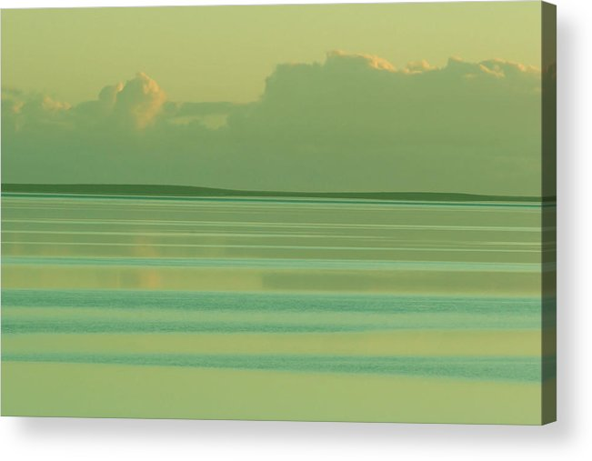 Sunset Acrylic Print featuring the photograph Pastel Sunset Sea Green by Tony Brown