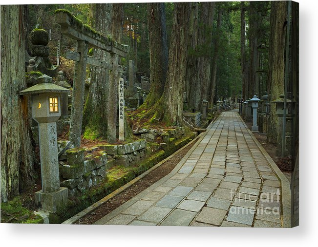Koyasan Acrylic Print featuring the photograph Path Through Koyasan Okunoin Cemetery, Japan by Sara Winter