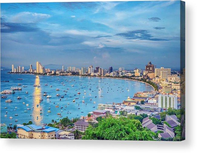 Sky Acrylic Print featuring the photograph Pattaya Bay by Jijo George