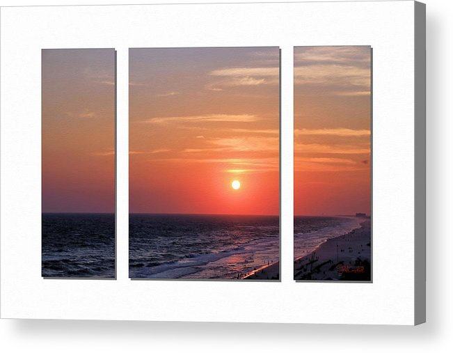 Sunset Acrylic Print featuring the photograph Patterns Of Sunset by Theresa Campbell
