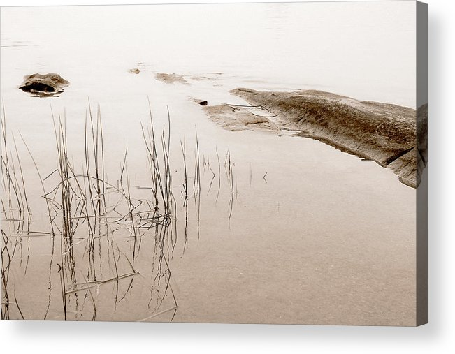 Water Acrylic Print featuring the photograph Peaceful Moment by Linda McRae