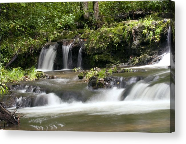 Water Acrylic Print featuring the photograph Peaceful Waterfall by Tina B Hamilton