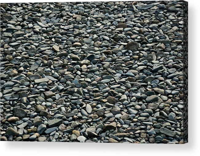 Pebbles Acrylic Print featuring the photograph Pebbles On The Beach by Gene Sizemore