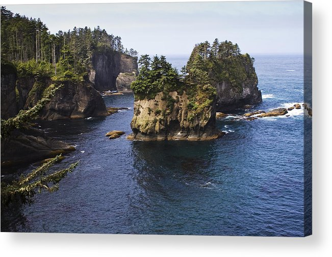 Chad Davis Acrylic Print featuring the photograph Peninsula Point by Chad Davis