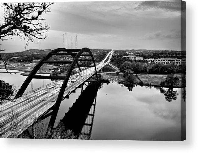 Austin Acrylic Print featuring the photograph Pennybacker Bridge by John Maffei