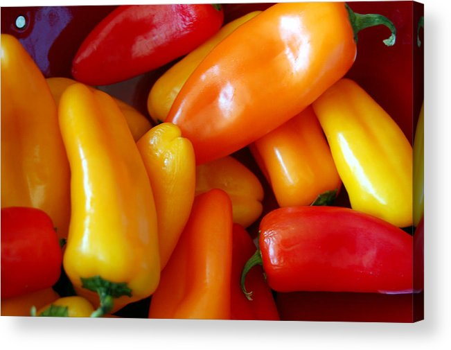 Peppers Acrylic Print featuring the photograph Pepper Medley by Heather S Huston