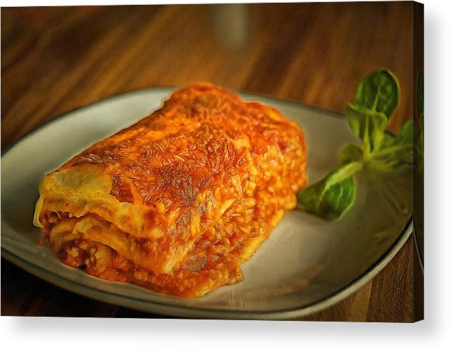 Perfect Food Acrylic Print featuring the painting Perfect Food by Harry Warrick