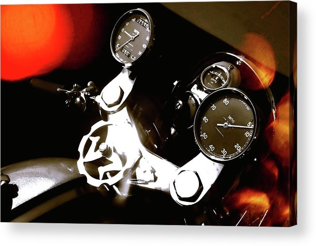 Motorcycle Acrylic Print featuring the photograph Perfect Pair by Daniel Gundlach