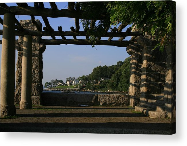 Motgan Memorial Park Acrylic Print featuring the photograph Pergola by Christopher Kirby