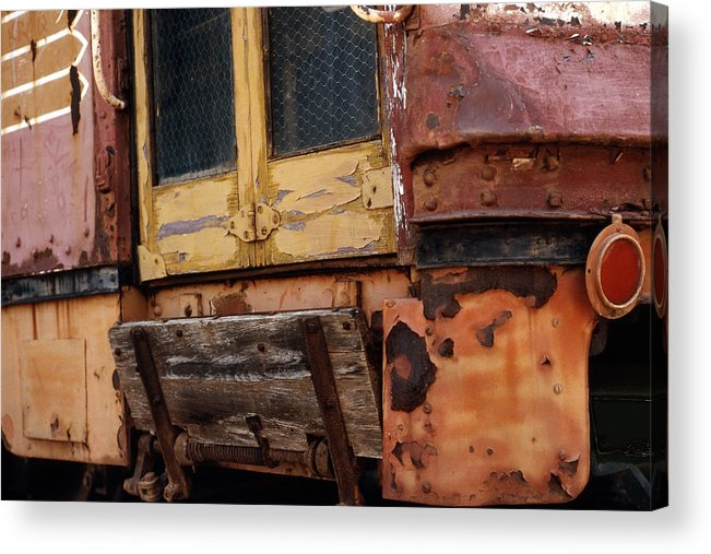 Trolly Acrylic Print featuring the photograph Perris Trolley by Lawrence Costales