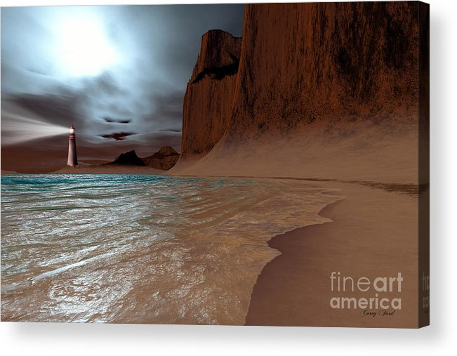 Lighthouse Acrylic Print featuring the painting Pharos by Corey Ford