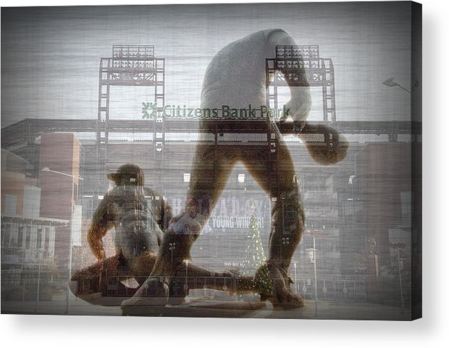 Philadelphia Acrylic Print featuring the photograph Philadelphia Phillies - Citizens Bank Park by Bill Cannon