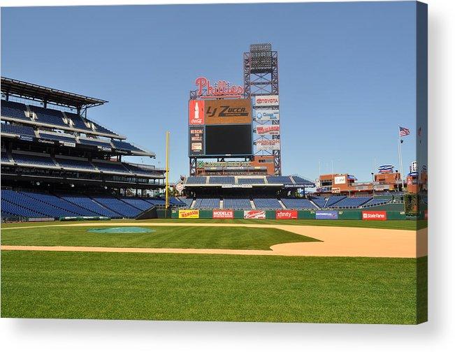 Philadelphia Phillies Acrylic Print featuring the photograph Philadelphia Phillies Stadium by Brynn Ditsche
