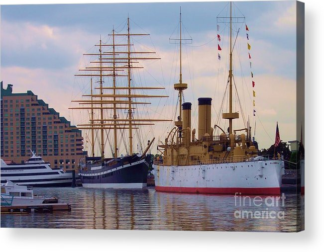 Philadelphia Acrylic Print featuring the photograph Philadelphia Waterfront Olympia by Debbi Granruth