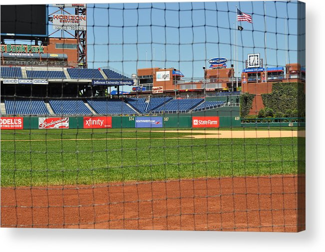 Philadelphia Acrylic Print featuring the photograph Phillies by Brynn Ditsche