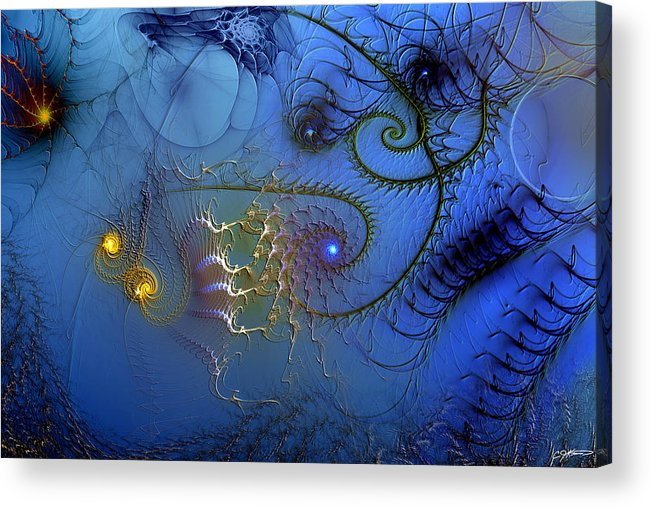 Abstract Acrylic Print featuring the digital art Philosophical Ventriloquism by Casey Kotas