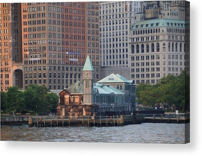 Manhattan Acrylic Print featuring the photograph Pier A by Terese Loeb Kreuzer