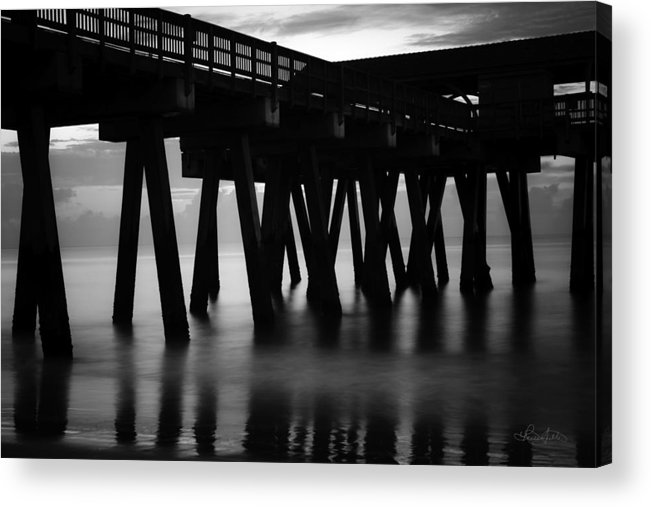 Tybee Acrylic Print featuring the photograph Pier Abstract by Renee Sullivan