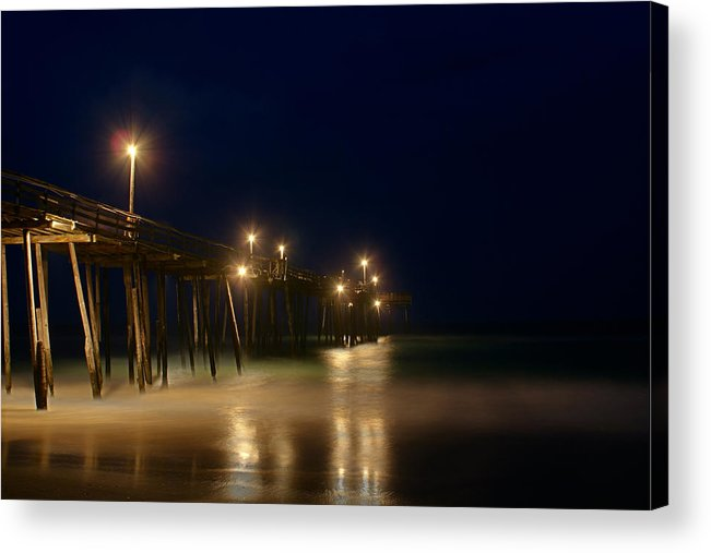 North Carolina Acrylic Print featuring the photograph Pier by Andreas Freund
