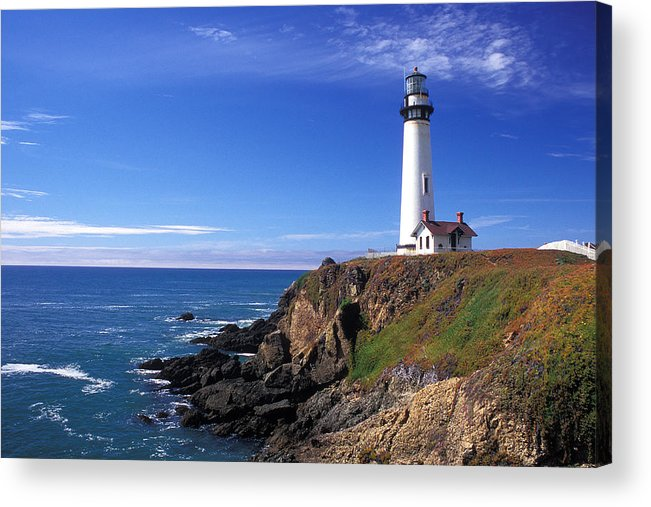 Lighthouses Acrylic Print featuring the photograph Pigeon Point Lighthouse 2 by Kathy Yates
