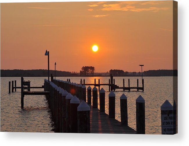 Piney Point Acrylic Print featuring the photograph Piney Point Sunrise by Bill Cannon