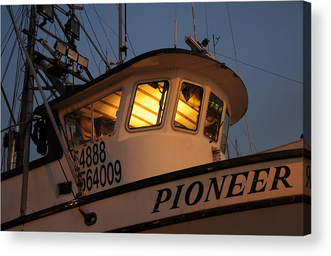 Christmas Fishing Acrylic Print featuring the photograph Pioneer by Alasdair Turner