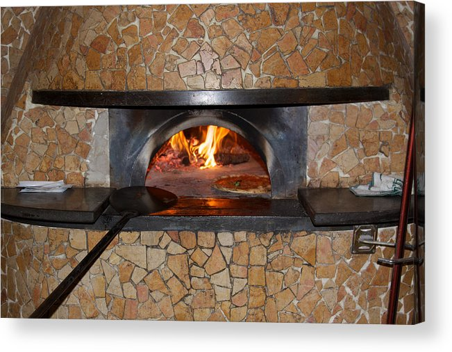 Pizza Acrylic Print featuring the photograph Pizza Oven by John Daly