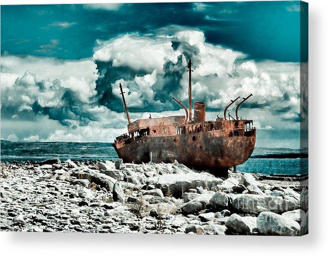 Plassey Acrylic Print featuring the photograph Plassey Wreck by Gabriela Insuratelu