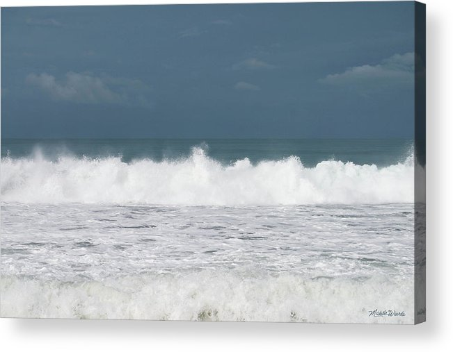 Sky Acrylic Print featuring the photograph Playa Hermosa Wave Number Four Central Pacific Coast Costa Rica by Michelle Constantine