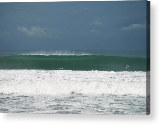 Costa Rica Acrylic Print featuring the photograph Playa Hermosa Wave Number One Central Pacific Coast Costa Rica by Michelle Constantine