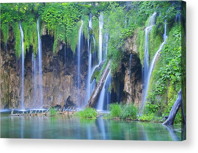 Plitvice Acrylic Print featuring the photograph Plitvice by Elisa Locci