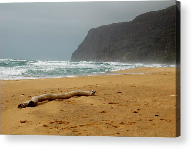 Beach Acrylic Print featuring the photograph Polihale State Park by Kathy Schumann