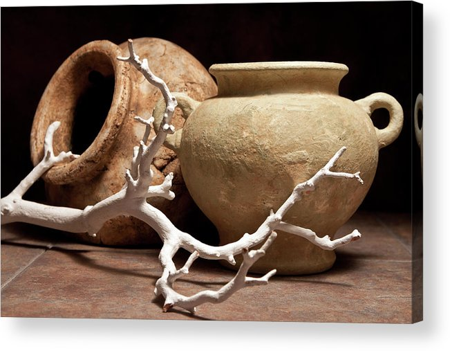 Pottery Acrylic Print featuring the photograph Pottery With Branch II by Tom Mc Nemar