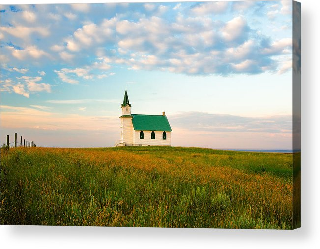 Church Acrylic Print featuring the photograph Prairie Parish by Todd Klassy
