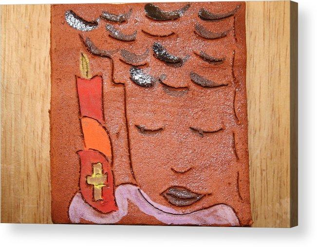 Jesus Acrylic Print featuring the ceramic art Prayer 31 - Tile by Gloria Ssali