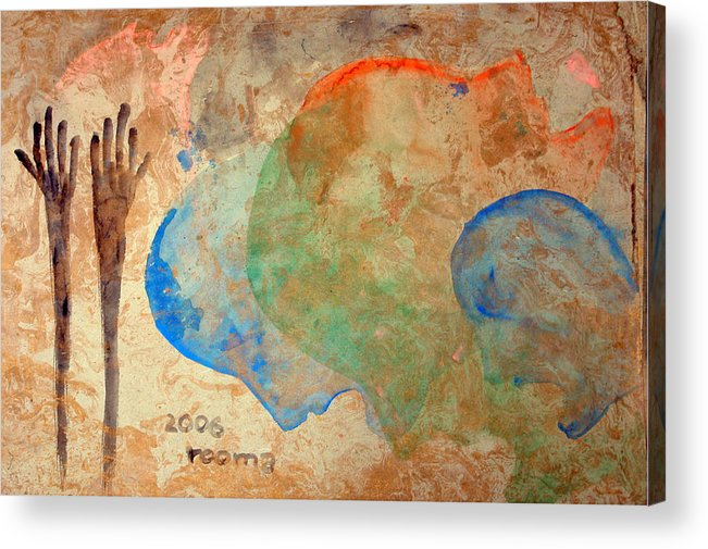 Painting Acrylic Print featuring the painting Prayer by Rooma Mehra