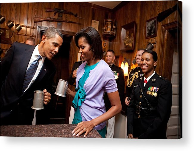 History Acrylic Print featuring the photograph President And Michelle Obama Attend by Everett