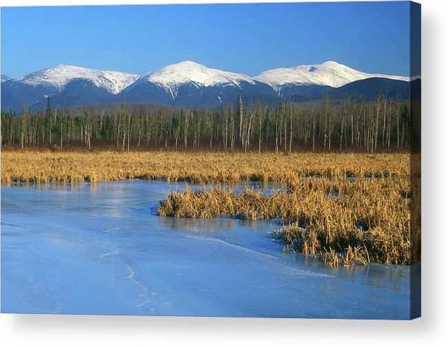 New Hampshire Acrylic Print featuring the photograph Presidential Range From Pondicherry Refuge by John Burk